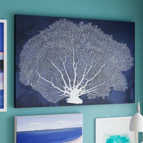 Found it at Wayfair.co.uk - Farris Coral Fan Cyanotype Graphic Art Wrapped on Canvas