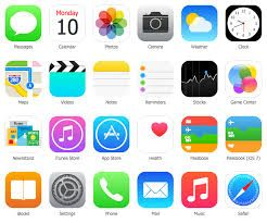 popular icons for iphone apps that come standard on any