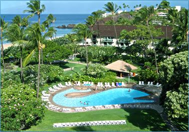 ka'anapali beach hotel, maui - spent two weeks here in 2009.  best. two. weeks. ever.  right on the beach near black rock, where cliff divers perform their ritual nightly.  spent all day (every day) on the beach and in the gentle, warm waters.