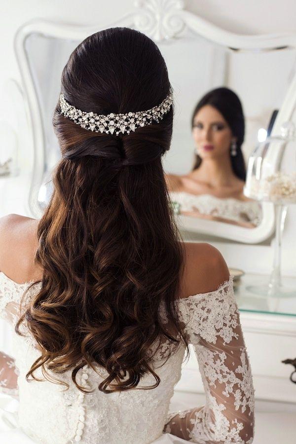 Noiva De Cabelo Semi Preso Em 2019 Cabelo Casamento