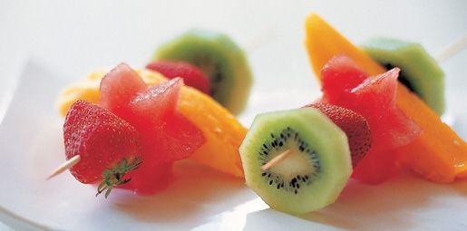 Iced Fruit Kebabs