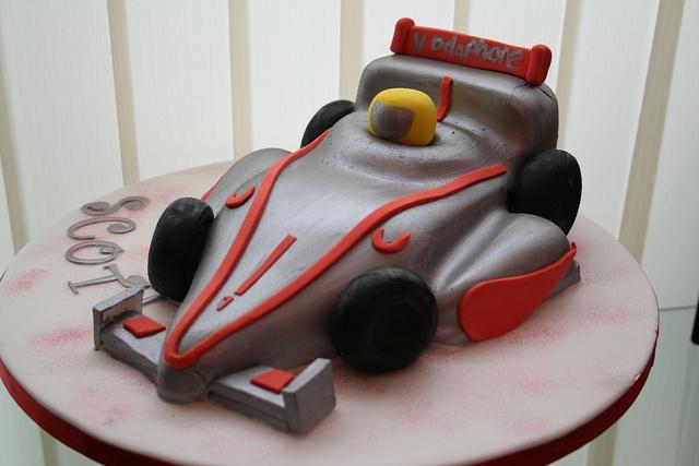 Formula 1 Racing car Cake by NattyCakes1, via Flickr