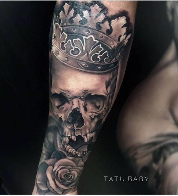 Skull king Tattoo by Tatu Baby  Email TatuBabyTattoo@Gmail.Com for appointments