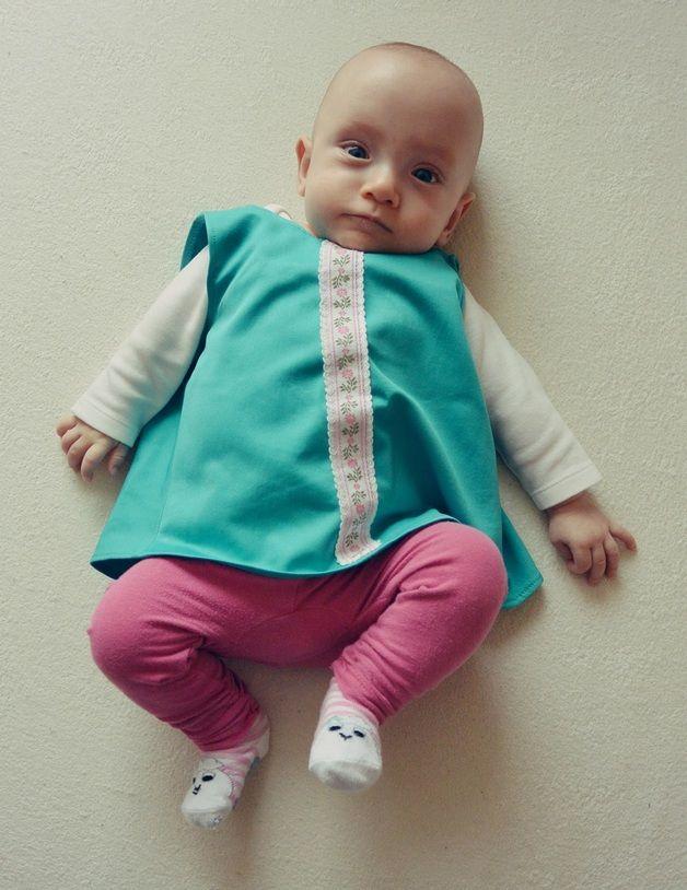 turkusowa bluzeczka - Gosia-Lisowska - Ubranka dla dzieci