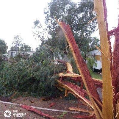 Photo sent in by Jenny Rush to The Weather Channel feedback.  Photo taken at Dalby, Queensland, Australia. #tropical cyclone #cyclone #typhoon #hurricane #severe weather