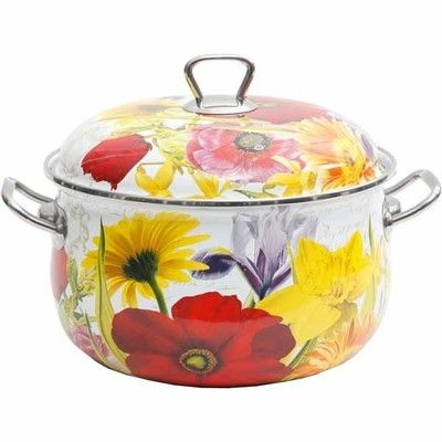 The Pioneer Woman Flower Garden 7 Qt Enamel Dutch Oven