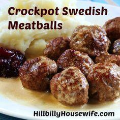 Mock Swedish Meatballs – Crockpot | Hillbilly Housewife