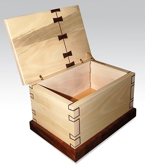"""I love this.  Inlaid Dovetails with """"Bow Ties"""" - 11.5Wx8Dx7.75H, Sycamore and Missouri Walnut, Al Navas, St. Joseph, MO"""