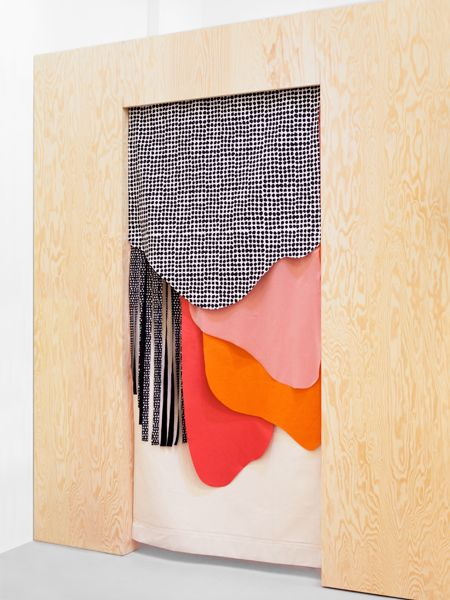CUSTOM-MADE CURTAIN FOR TINY STOREby Nadine Goepfert