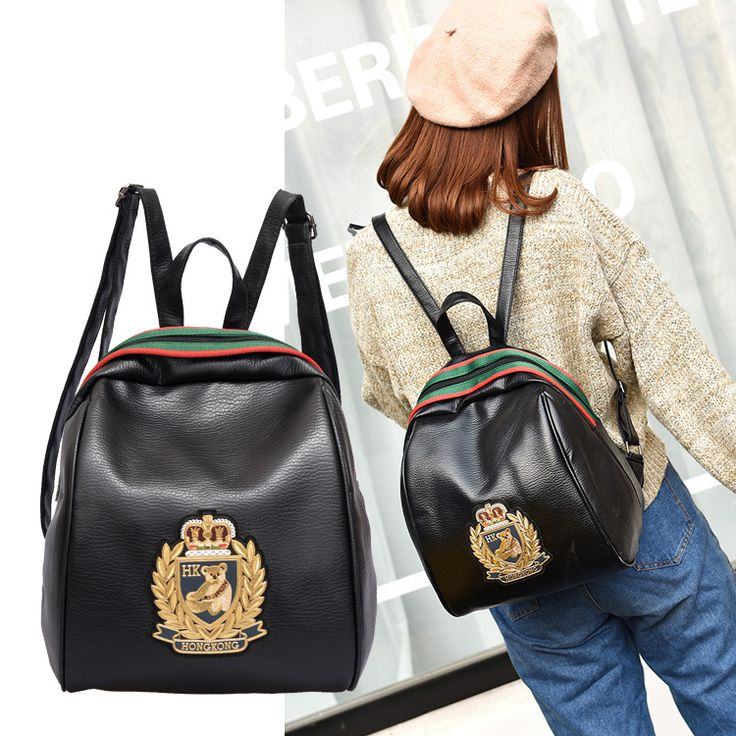 Simple Korean style pure candy color oxford bee women backpack college student school book bag leisure backpack