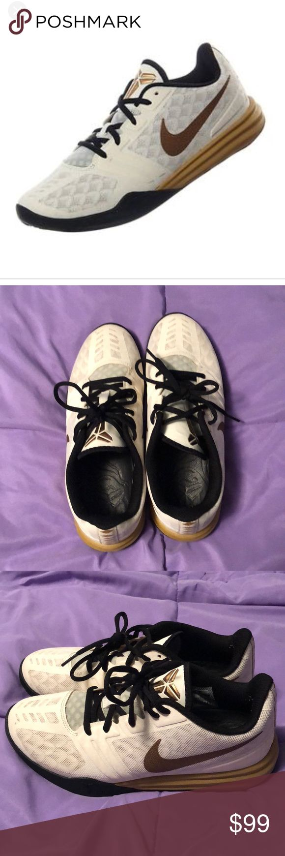 Nike Kobe Bryant Mentality Mens Sneaker Nike Kobe Bryant Mentality Mens Sneaker - White / Black / Gold - 10 (704942-102) size 7. New without box. Nike Shoes Sneakers