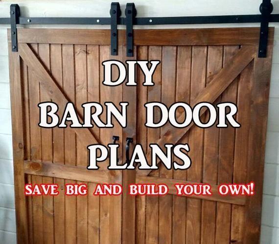 Barn Door Plans Etsy Diy Barn Door Diy Barn Door Plans Door Plan
