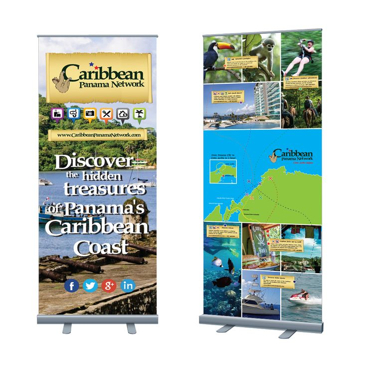 Caribbean Panama Network stand up banner design