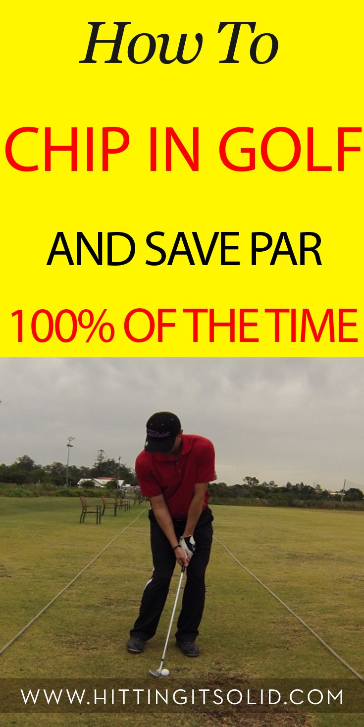 Discover how to chip in golf and save par 100% of the time and lower your golf scores. #GolfHumour