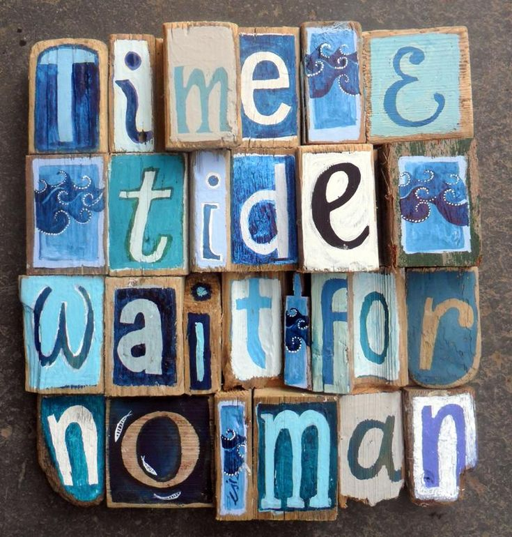 'time & Tide' - Driftwood Art - CoastalHome.co.uk