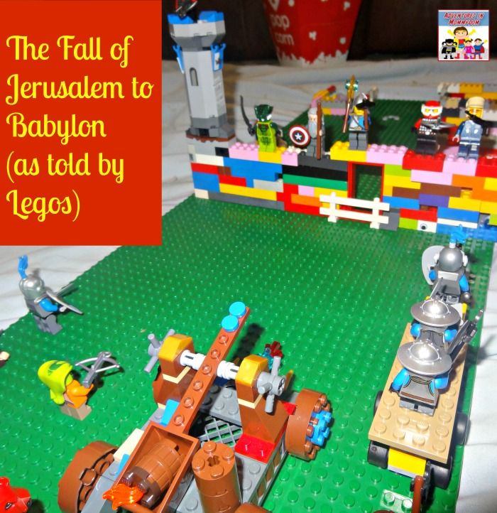 History Fair Idea: Using LEGOs to demonstrate an important event, battle, etc.  This one is the Fall of Jerusalem