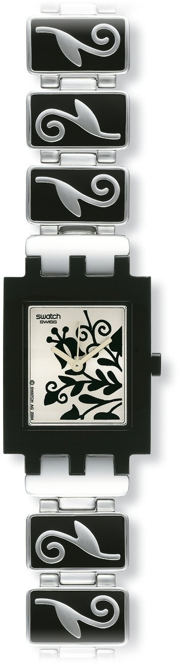 Swatch Women's CORE COLLECTION SUBB111G Silver Stainless-Steel Quartz Watch with White Dial, (watches, swatch, casual watch, swatch watch, atomic watch, lo recomiendo, swatch ladies watches lk267g - ww by swatch, leather strap, swatch ladies watch black, accessories)