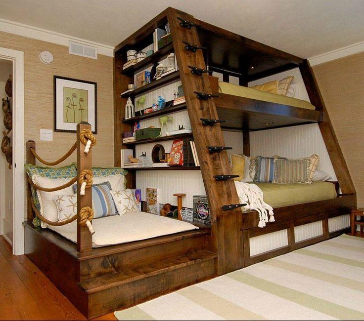 Beds Ideas best 20+ triple bunk beds ideas on pinterest | triple bunk, 3 bunk