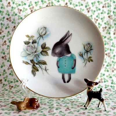 The story book rabbit  a memory   love how the bunny? is floating