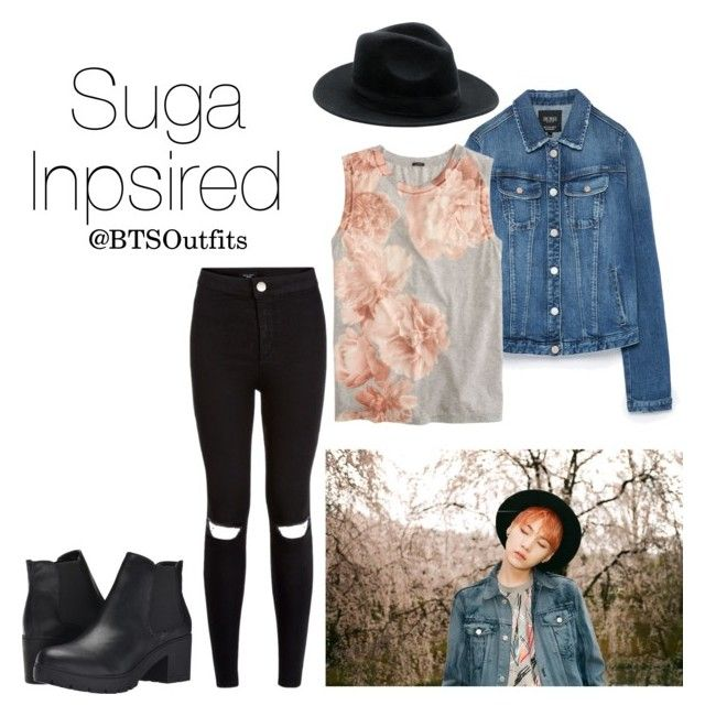 """""""Suga Inspired Outfit"""" by btsoutfits ❤ liked on Polyvore featuring Zara, J.Crew, Steve Madden and New Look"""