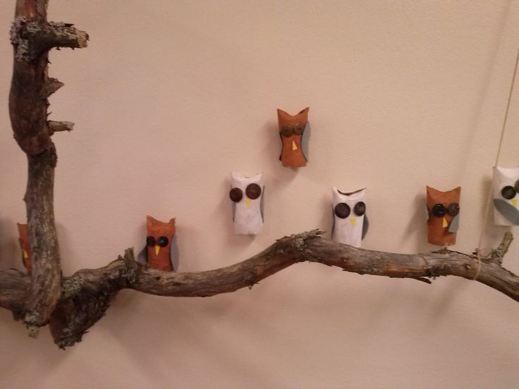 Tunturipöllö, helmipöllö, ei yhtään pöllömpi pöllö ja muut pöllöt syntyvät hienosti paperihylsyistä. Maalaa hylsy ja piirrä tai liimaa pöll...