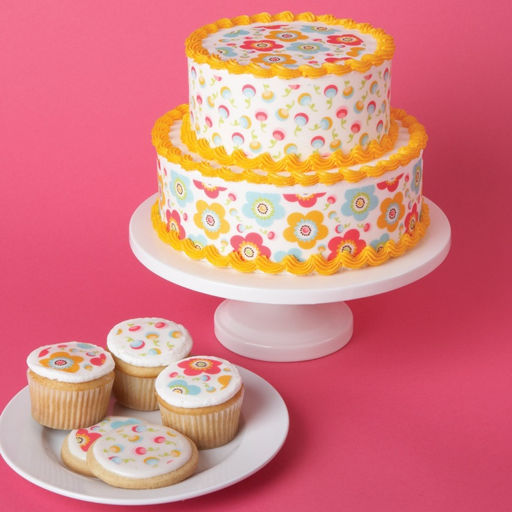 Cake tattoos...immore of a fondant person, but these seem pretty and easy for an easter cake!