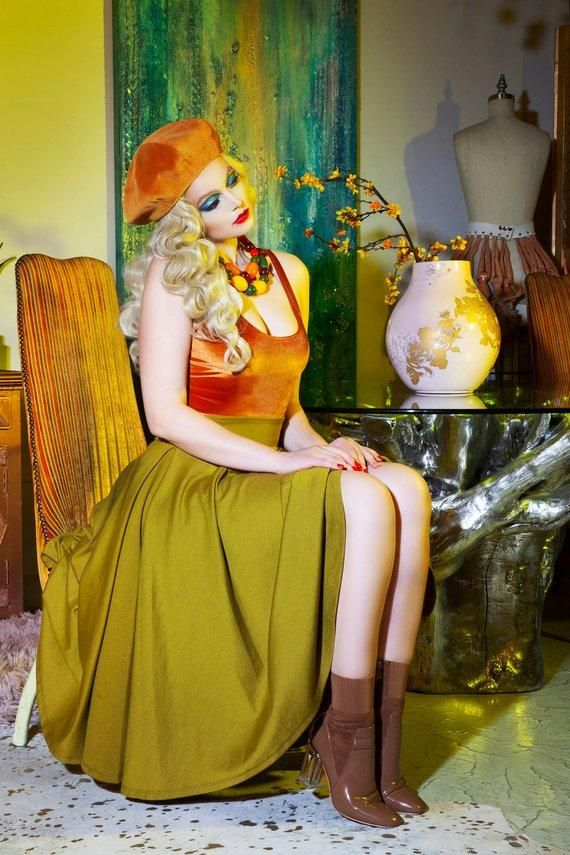 07827798f1 Plush Velvet Scoopneck Bodysuit in Caramel - The Sugarpuss Collection