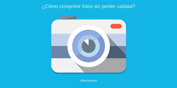 ¿Cómo comprimir fotos sin perder calidad de imagen?