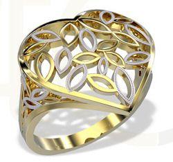 Pierścionek w kształcie serca wykonany z żółtego złota / Heart shaped ring made from yellow gold / 1 085 PLN / #jewellery #ring #heart #gold #art #bizuteria #pierscionek