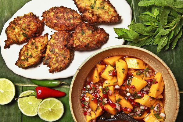 Indian Spicy Pakoras for Summer – City Kitchen - NYTimes.com: Corn Fritters, Corn Pakora, Summer Food, Mango Tamarind Chutneys, Indian Summer, Summer Meals, Coconut Oil, Sweet Corn, Spicy Corn