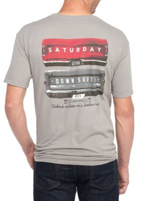 Saturday Down South Men's Gates Of Glory Short Sleeve Tee - Gray - 2Xl