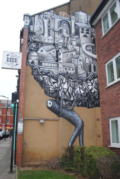 sheffield: Graffiti Street Art, Building Murals, Weight, Art Sheffield, Awesome Artist, Streetart And Art, Bang Vintage, Street Art Graffiti, Bang Bang