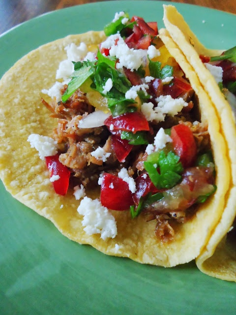 Pulled Pork Tacos with Fresh Cherry Salsa