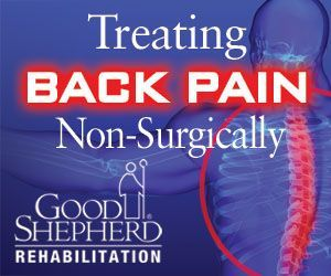 """For a patient with back pain, simple activities like sitting, standing and walking can be difficult.  Back pain symptoms can range in intensity from a slight """"tight feeling"""" in the back to severe back and/or leg pain. Physical therapy offers many treatment options for patients with back pain. Learn more about how Good Shepherd treats back pain non-surgically - http://www.goodshepherdrehab.org/blog/treating-back-pain-non-surgically"""