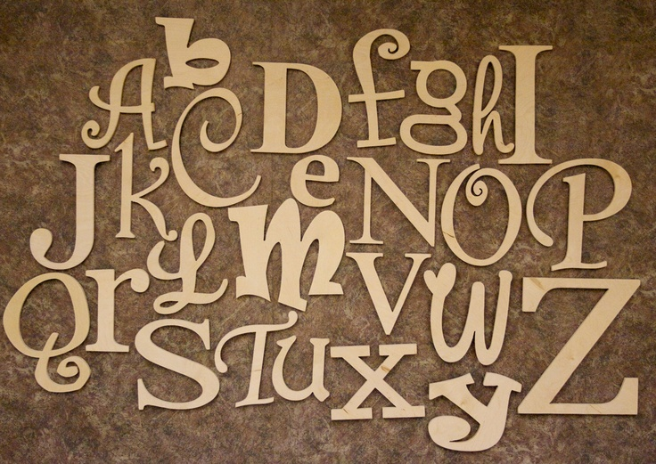 wooden alphabet set unfinished wood letters in mixed fonts and sizes abc wall