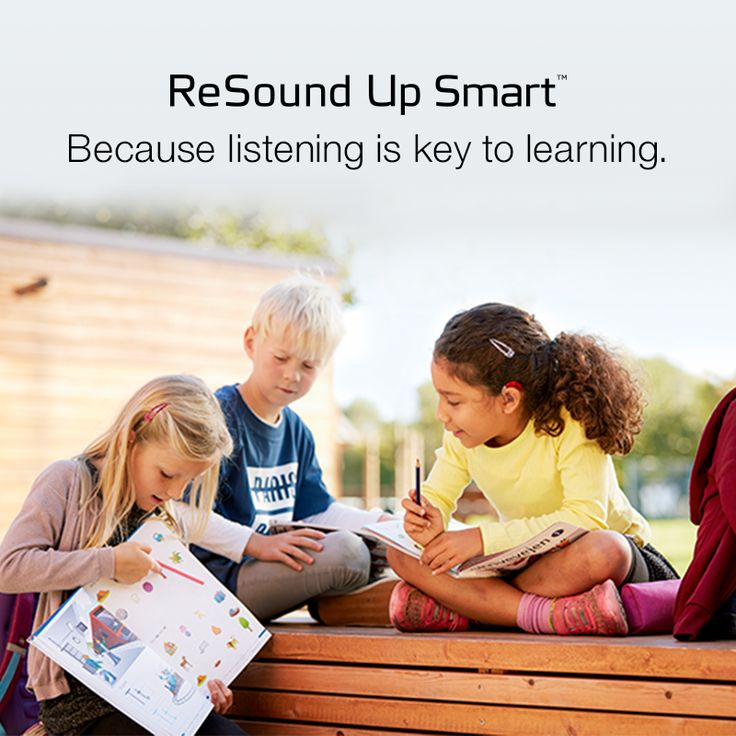 ReSound Up Smart - Because listening is key to learning.  Visit resound.com/en-AU/hearing-aids/up-smart