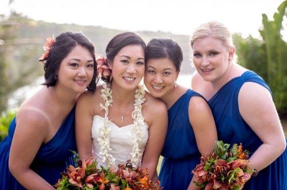 Bride & Bridesmaids at Maui Destination Wedding.