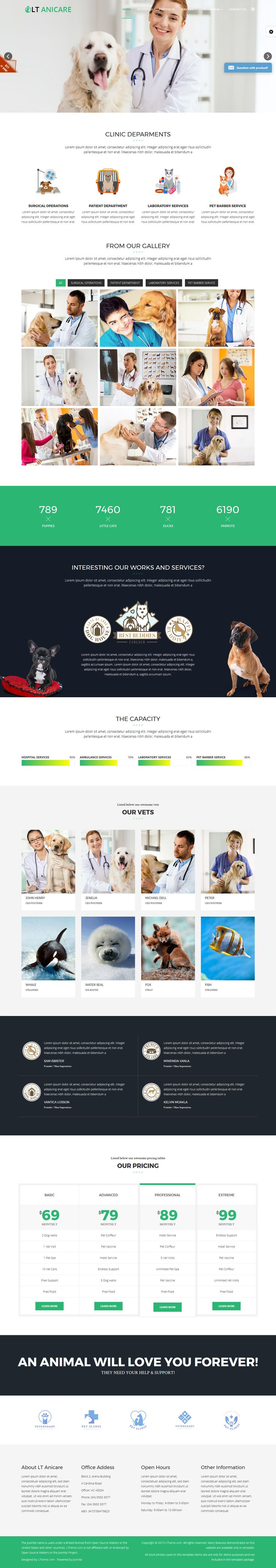 L.Theme - LT Anicare Onepage – Single Animal Health Care Center Onepage Joomla template ----- Access PRO version with 25% OFF on this week!  Coupon code...