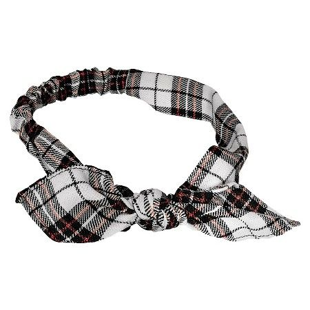 Remington Black & White Plaid Flannel Knot Head Wrap - 1ct : Target