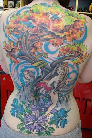 The garden of eden - My back piece - artist ryan @ apollo tattoo in courtenay bc
