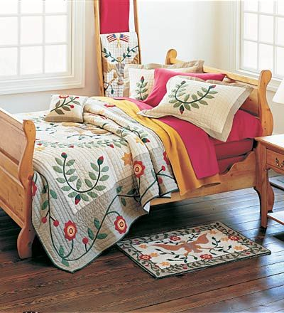 Gorgeous farmhouse sleigh bed I bought for my Sunroom!!  Can't wait to put it together!!
