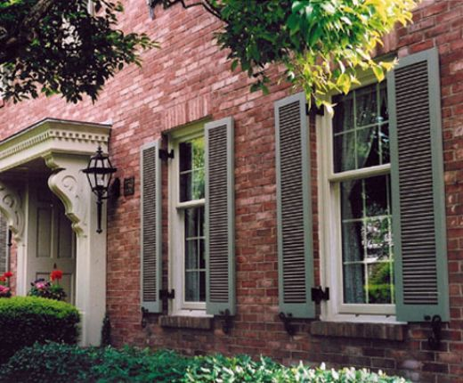 Custom exterior shutters how to select the best shutter - Different styles of exterior shutters ...