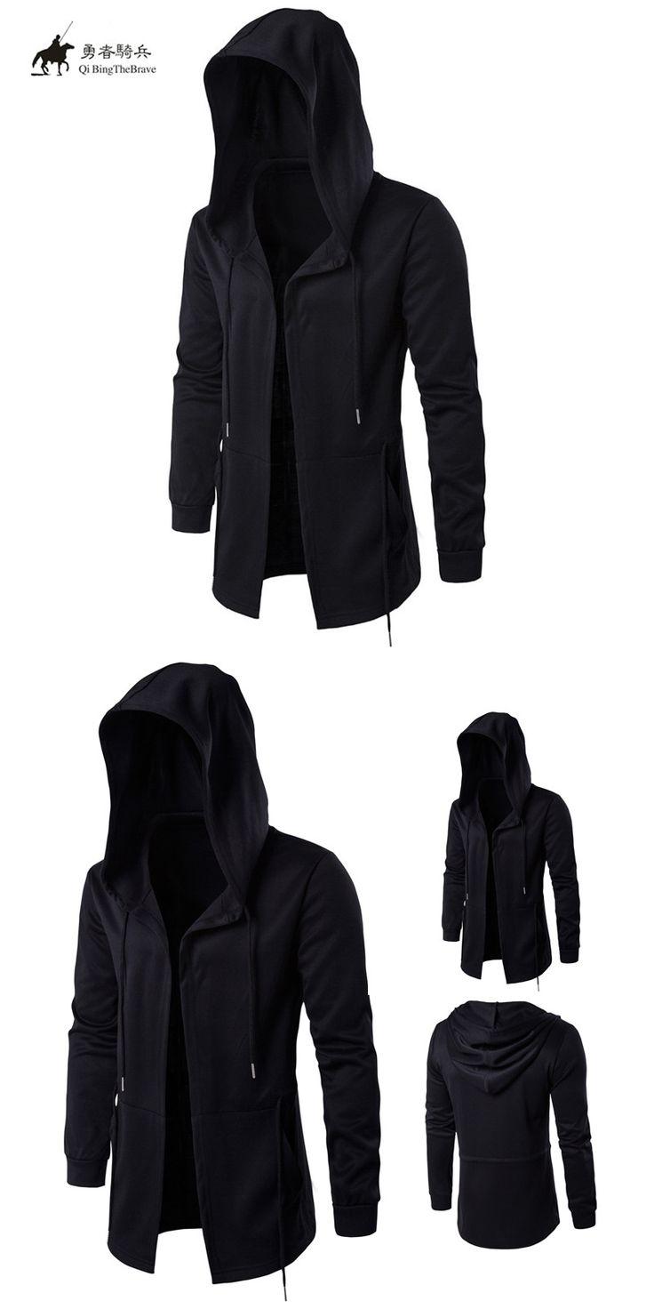 Men Black Cardigan Hoodie Without zipper Men Hooded Assassin Creed Clothing polerones hombre Man Cardigan Streetwear 040310
