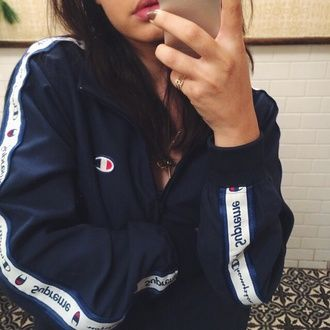 black jacket blue jacket supreme jacket supreme jacket navy champion blue white tumblr blvck instagram dope pretty swag urban outerwear blackfashion black sportswear windbreaker cute clothes fashion nike iphone lovely pepa style scrapbook stylish style