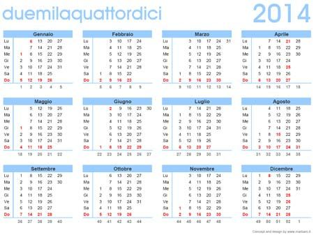 Calendario 2014 da stampare