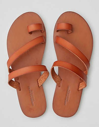 american eagle toe ring sandals