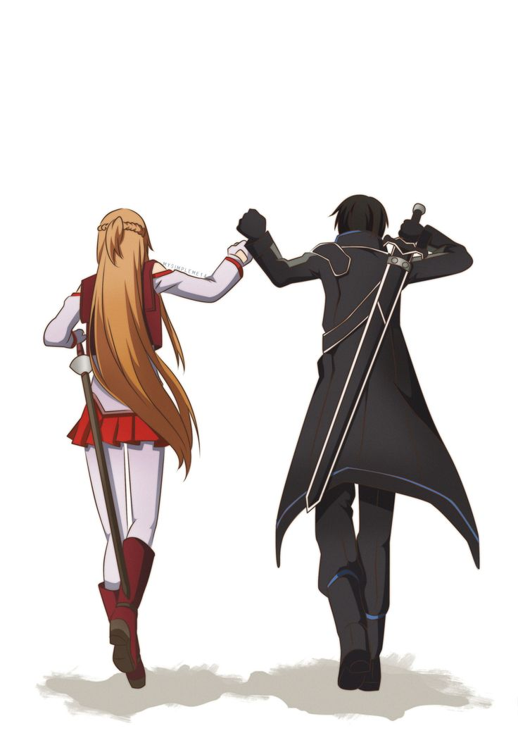 Sword Art work On-line Kirito and Asuna
