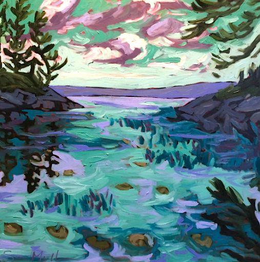 Lily Pads by Sara Alex Mullen. Ottawa artist, Canadian artist, landscape art, SANTINI GALLERY.