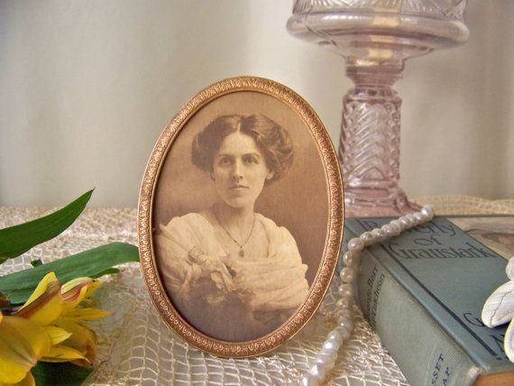 Antique Picture Frame Portrait Frame Home Decor by CynthiasAttic