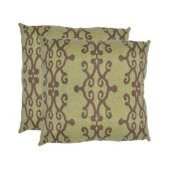 h: Outdoor Ideas, Green Scrolls, Outdoor Pillows, Toss Pillows, Outdoor Toss, Decor Pillows, Pillows Sets, 2Piec Outdoor, Green Pillows